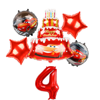 1 set Mickey Minnie mouse car cake children birthday party decoration latex balloons kid toys