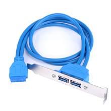 Usb3.0 chassi traseiro defletor cabo 20pin para duplo usb3.0 defletor cabo usb 3.0 chassis traseiro defletor cabo conector de cabo de computador