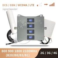 B20 800 900 1800 2100 Mhz Handy Booster Tri Band Mobile Signal Verstärker 2G 3G 4G LTE Cellular Repeater GSM DCS WCDMA Set