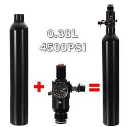 0,38 L Aluminium Tank Luft Zylinder Paintball PCP 4500 PSI Air Tank Regler Ausgang Druck Hohe Druckluft Flasche Regler