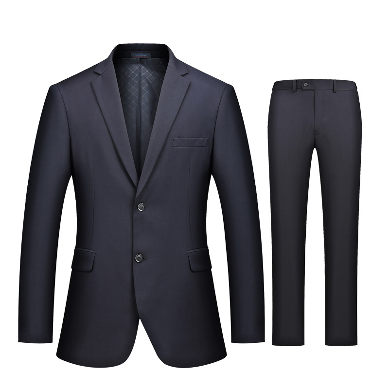 The New 2020 Men's Pure Color Suits Two-button Suit Two Young Business Suit Cultivate One's Morality