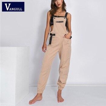 Vangull Off Shoulder Jumpsuit Women Long 2019 New Fashion Spring Autumn Rompers Female Strap Jumpsuits Streetwear