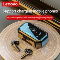 Lenovo LP3 Pro cuffie Bluetooth TWS Wireless Touch Control auricolari Display a LED batteria grande 1200mAh cuffie con scatola di ricarica