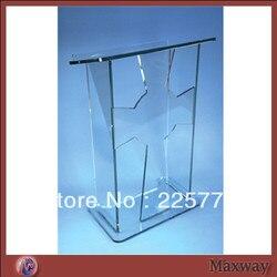 Plexiglass dais/acrílico escola lectern/igreja rostro plexiglass