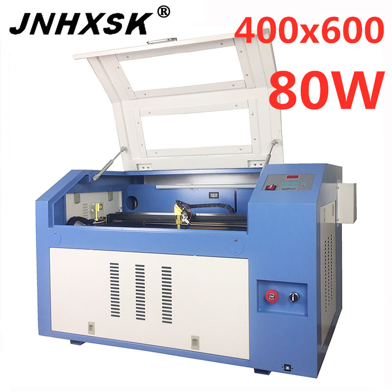 JNHXSK 80w Laser Engraving Machine Cnc Router Co2 Laser Cutter M2 Corellaser Coreldraw Desktop Engraver Machine USB
