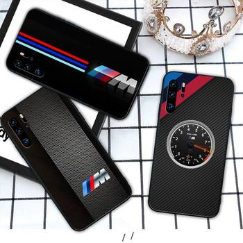 Hot Car BMW M Logo VIP Silicone black case coque for Huawei P9 lite 2016 2017 P 10 P20 PRO P30 P40 lite P smart 2019 cover image