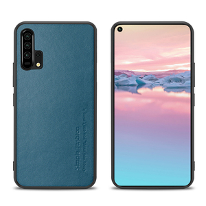 Image 2 - Simple Fashion Case For Honor 20 Pro Cases Thin Genuine Leather & Silicone Shockproof Back Case Cover For Huawei Honor 20/ Pro