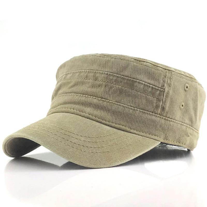 Wholesale Hot Fashion Outdoor Unisex Casual Cotton Soldier Denim Hat Visor Solid 4 Color Cap