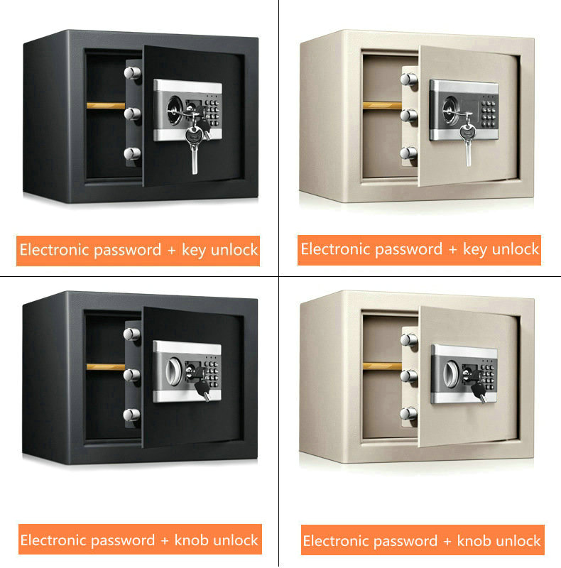 Electronic Password Key Double Unlock File Cabinet Concealed Safe All Steel Home Office Safe Jewelry Cash Storage Cabinet