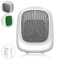 USB Air Conditioner Personal Space Cooler Humidifier Moist Low Noise Purifies Air Evaporative Small Desk Fan Mini Coolair AC for