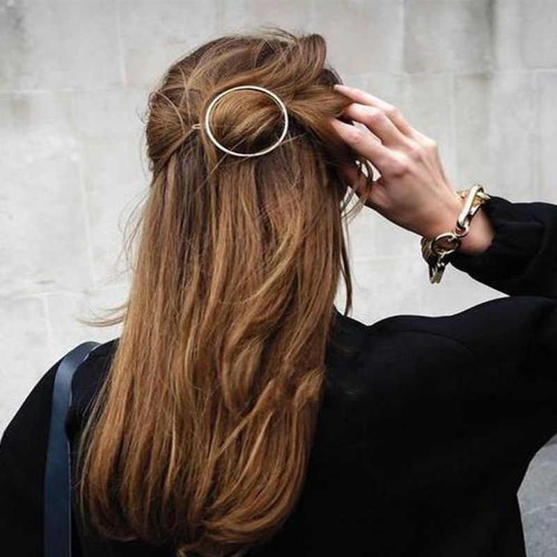 Klip Rambut Fashion Jepit Rambut Moon Liontin Kristal Berlian Imitasi Rumbai Menjuntai Perhiasan Rambut Pins Klip untuk Wanita Wanita Rambut Aksesoris