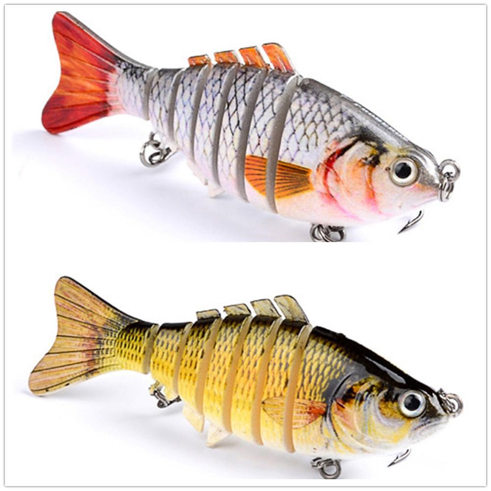 1 piezas cebos de pesca wobbler cebo duro de múltiples secciones - Pescando