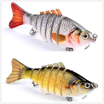 1PCS Fishing Baits Trolling Swim Minnow Wobbler Multi-section Hard Bait100mm15g Artificial Crankbait JerkBait Fishing tackleLure