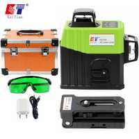 Kaitian 12 Lines 3D Laser Level 360 with Magnet Bracket Self-Leveling Horizontal&Vertical Cross Green &Red Line Can Use Receiver