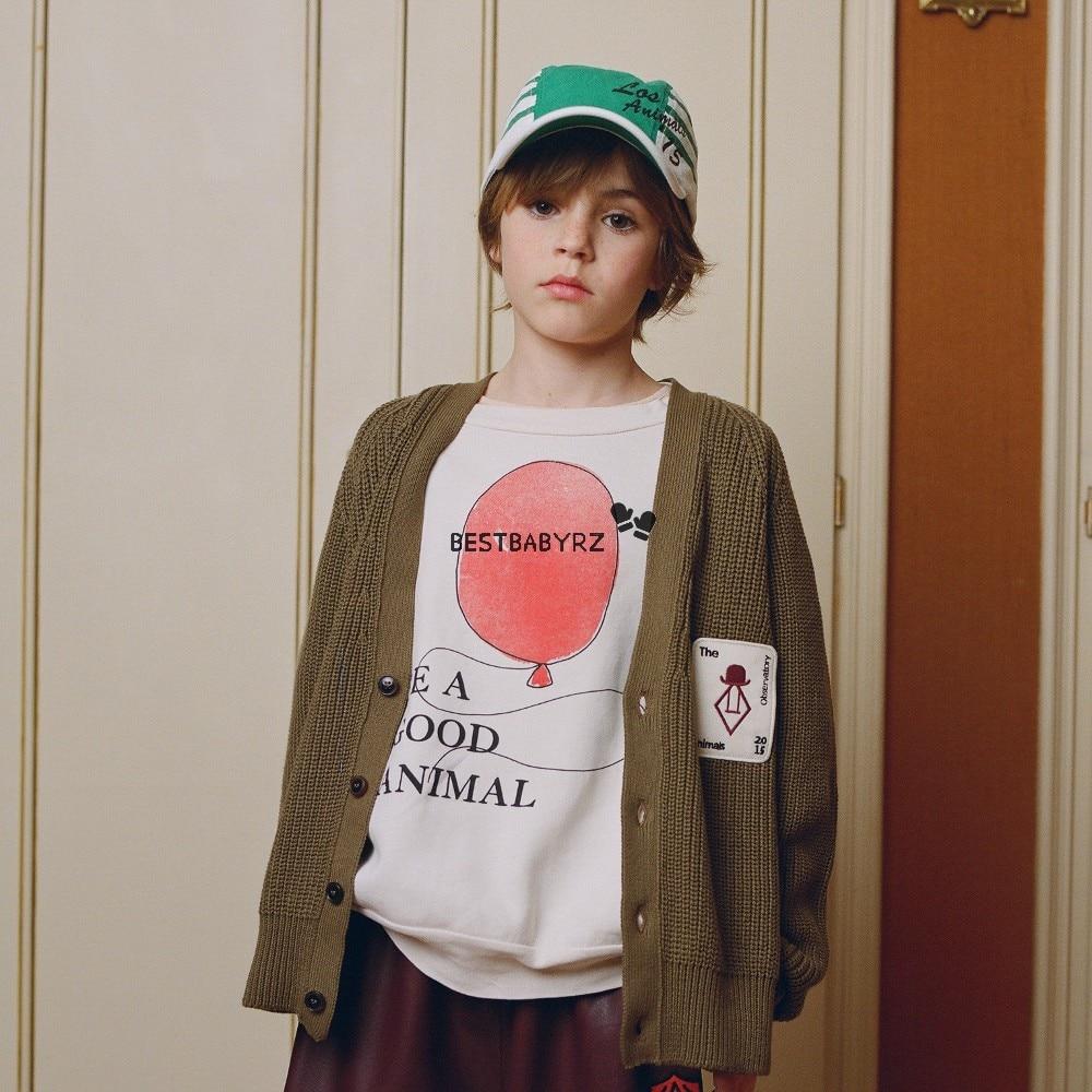 Hot Sale Kids T-shirt 2021 Boys Clothes Girls Sweatshirt Autumn Winter Tao The Animals Cotton Soft Printed Baby Girl Tops Shirt 5