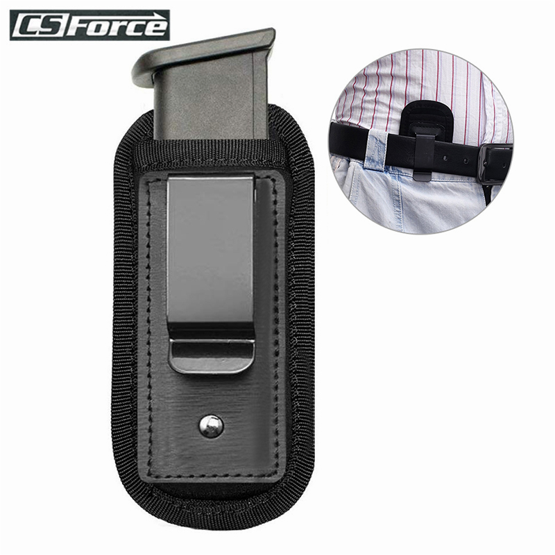 Tactical Magazine Pouch Holster Pistol 9mm Concealed Carry Mag Case With Clip Glock 19 21 Beretta 92 Handgun Mag Pouch Nylon