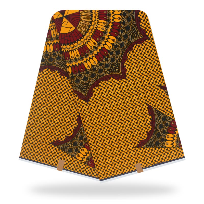 High Quality Original Real Wax 100% Cotton Wax African Fabric African Wax Print Fabric 2020 Latest 6yards Of Ankara Fabric
