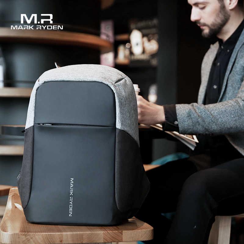 Mark Ryden multifonction USB charge hommes 15 pouces sacs à dos d'ordinateur portable pour adolescent mode mâle Mochila voyage sac à dos anti-vol