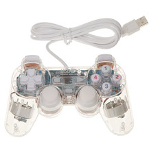USB Joypad Double Shock Game Controller Joystick untuk PC Komputer Laptop Windows Putih Anti Selip dan Tahan Keringat Menangani(China)