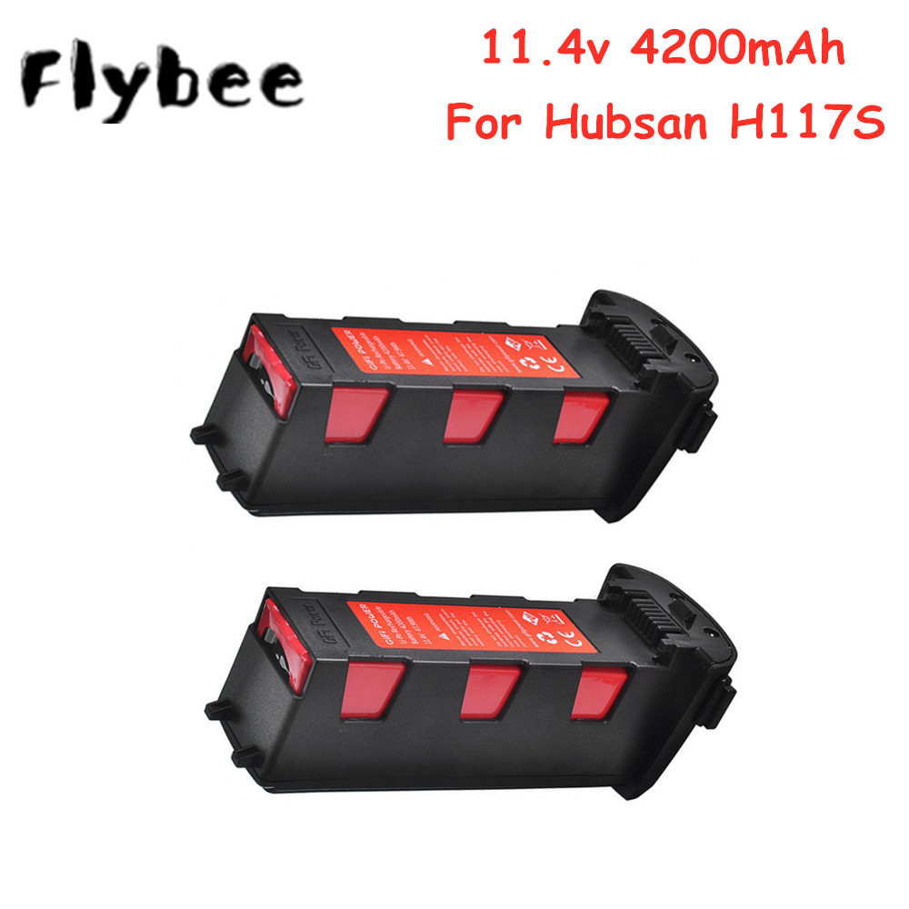 Batterie 11.4v 4200mAh pour Hubsan H117S Zino GPS RC FPV caméra de course Drones quadrirotor pièces batterie 11.4V et chargeur ensemble