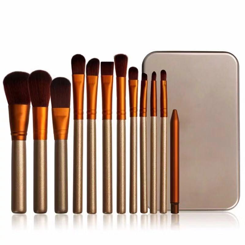 12Pcs Pincéis de Maquiagem Kit Professional cabelo Fibra Fundação de Blush Sombra de Olho Escova Kit De Higiene Pessoal Make Up Brush Tool Set maquiagem