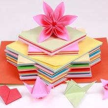 Цвет картон 10 цветов площади и рисунком в виде птичек оригами