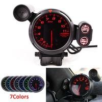 Difi bf 3.75 Polegada 80mm 7 cores 0 11000 rpm tacômetro calibre rpm motor deslizante com luz de mudança de carro para carro automático|Tacômetros| |  -