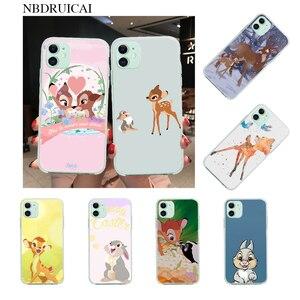 NBDRUICAI Bambi Thumper Bling милый чехол для телефона iPhone 11 pro XS MAX 8 7 6 6S Plus X 5S SE XR