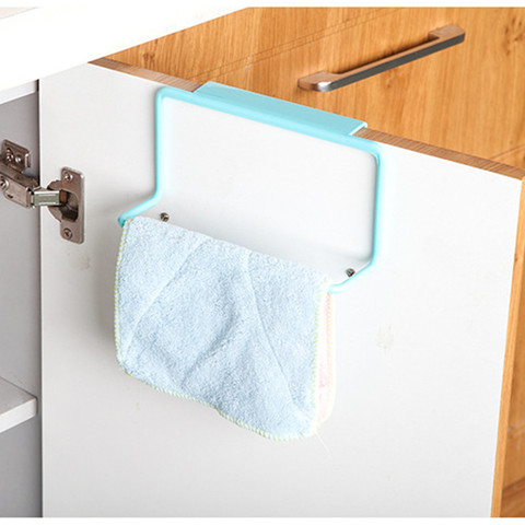 Kitchen bathroom towel rack rag rack bathroom cabinet cupboard door hanging rack kitchen supplies accessories Lahore