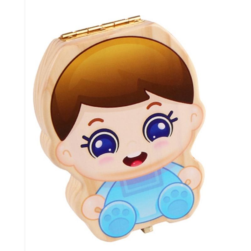 Детский ящик для зубов, органайзер для детей, молочные зубы, деревянный ящик для хранения детских зубов для мальчиков и девочек, кодовый