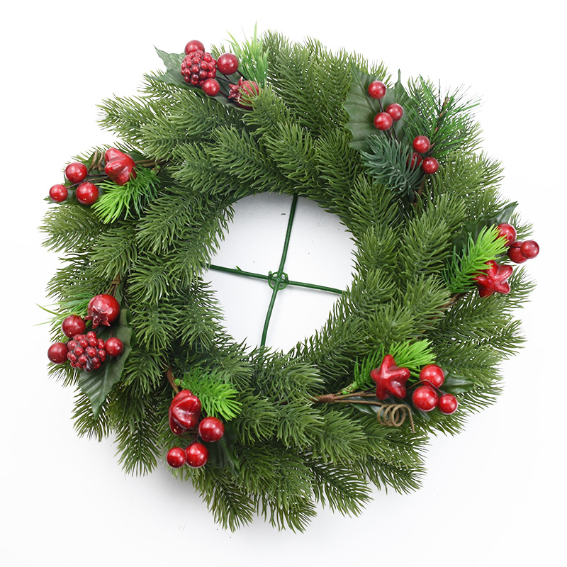10pcs Artificial Plants Plastic Pine Tree Christmas Garland Diy Gifts Candy Box Scrapbooking Wedding Home Decoration Accessories
