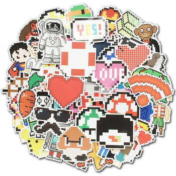 50 Pcs Pixel Stickers Video Game Themed Retro Vinyl Decals for Kids Toy Laptop Suitcase Car Skateboard Water Bottle Sticker Pack - discount item  34% OFF Classic Toys