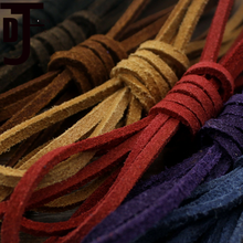 DAWNJOE 3*2mm Suede Flat Genuine Leather Rope DIY Making Key