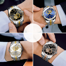 GUANQIN 2020 Business Watch Men Automatic Japan Men Tungsten Steel Waterproof Fashion Sport Mechanical Watch relogio masculino