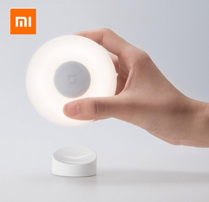 Image 2 - Xiaomi Mijia Luz Led nocturna de inducción, 2 lámparas, brillo ajustable, sensor infrarrojo inteligente de cuerpo humano con base magnética