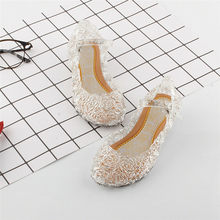 Fashion Baby Girls Kids Summer Crystal Sandals Frozen Princess Toddler Cute l Fancy Crystal Jelly High-Heeled Shoes(China)
