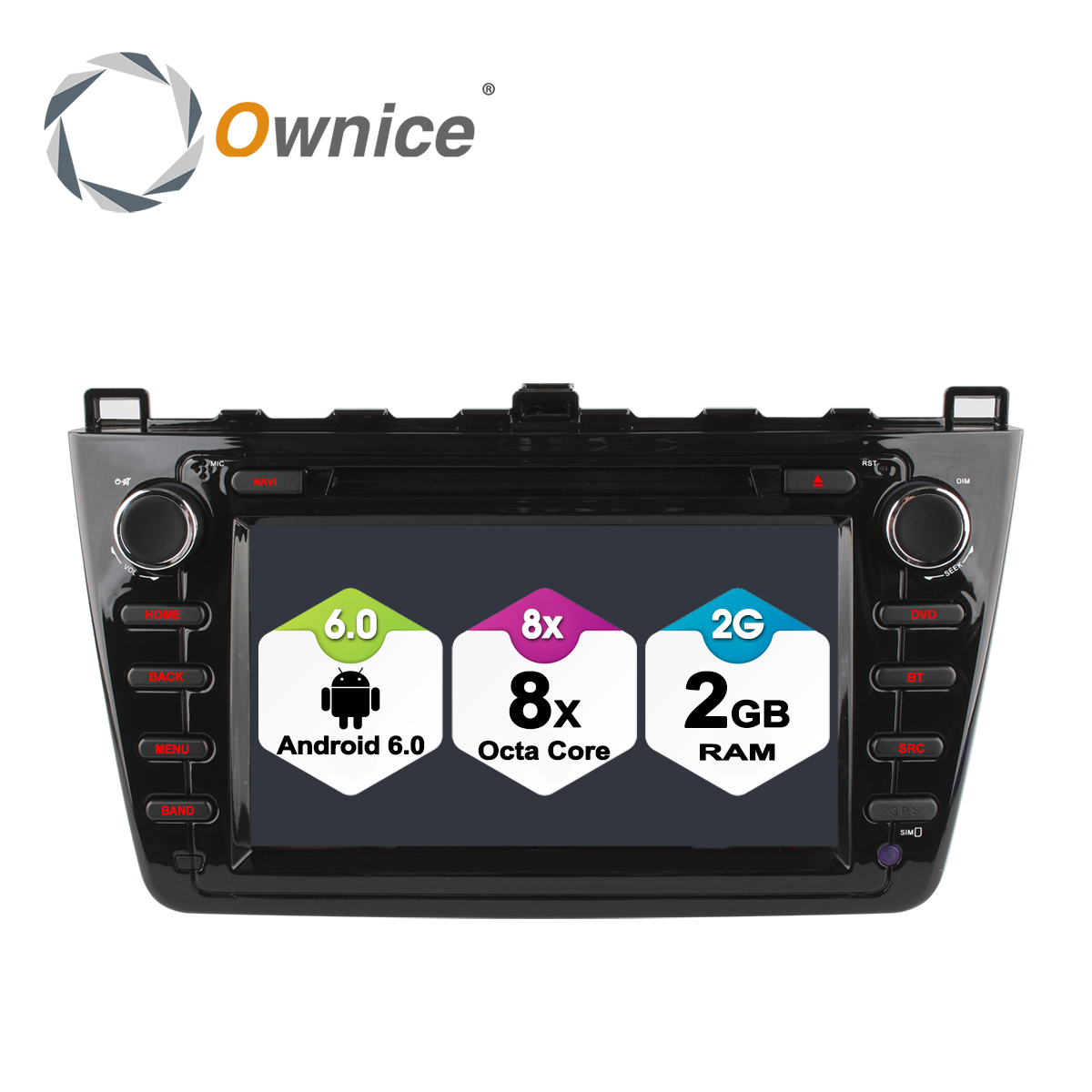 Ownice C500 Android <font><b>6</b></font>.0 Octa 8 Core 1024*600 Car DVD <font><b>GPS</b></font> <font><b>Navigation</b></font> for New <font><b>Mazda</b></font> <font><b>6</b></font> 2009 - 2011 2GB RAM 32GB ROM 4G SIM LTE image