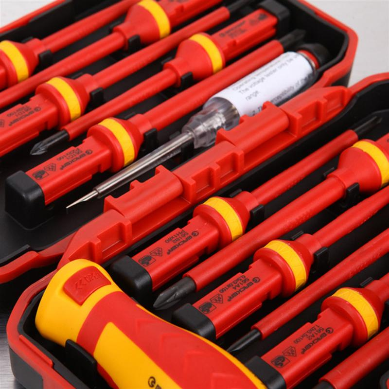 Set Screwdrivers Torx Pozidriv Magnetic 13pcs Insulated 1000V Insulation Slotted And Voltage VDE Tools High Bits Electrician