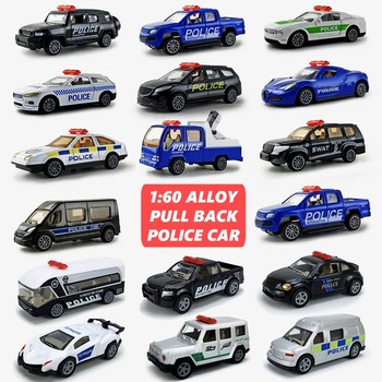 6 Pieces Set 1:60 Alloy Pull Back Police Rescue Toy Car Model Racing Sports Supercar SWAT Simulation Model Toy Car For Boys high simulation 2pcs 4pcs 8pcs 24pcs set alloy pull back model car mini alloy pull back toy car parent child toy for boys gift
