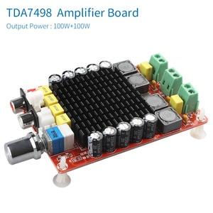 Image 2 - UNISIAN TDA7498 Class D High power Digital amplifier board 2.0 channel 2x100w audio amplifiers with Acrylic shell box optional