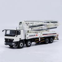 1/50 Zoomlion Mercedes Benz Actros 52m Concrete Pump Truck Diecast Model Toy
