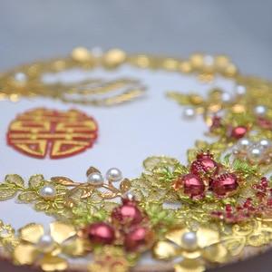 Image 4 - Kyunovia Gold bouquet luxury Bridal Bridal Bouquet Ivory Great Gatsby wedding Brooch Fan Bouquet  D150