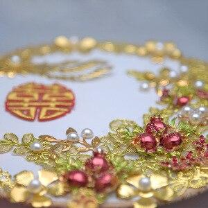 Image 4 - Kyunovia złoty bukiet luksusowy dla nowożeńców bukiet ślubny kości słoniowej wielki Gatsby broszka ślubna wentylator bukiet D150
