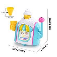 Children Ice cream Bubble Machine Bathing Toy Fun Foam Bathtub Toy Gift Bath Toys For Children Bathing Water Baby Bithday Gift