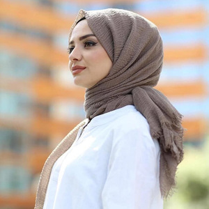 Image 3 - M MISM Free Shipping Ethnic Oversize Muslim Crinkle Hijab Head Scarf Women Solid Bubble Cotton Shawls And Wraps Soft Big Linen