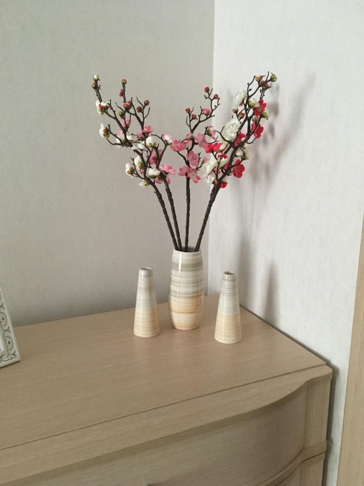 100, Pink anglovesmile Colorfulife Artificial 4.5cm Silk Plum Blossom Peach Sakura Cherry Head Flower Heads Artificial Flowers Head Wedding Floral Supplies for Bridal Hair Clips Headbands Dress Accessories DIY Accessories