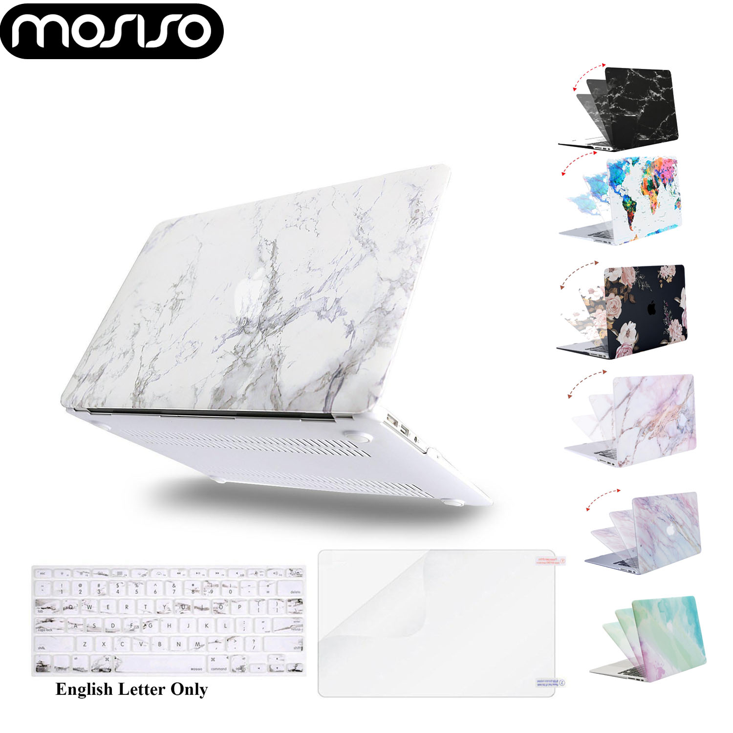MOSISO Hard <font><b>Cover</b></font> Case for Laptop <font><b>Macbook</b></font> <font><b>Pro</b></font> 13 Touch Bar A1706 <font><b>A1708</b></font> A1989 Mac Air 13 inch 2017 2018 2019 Notebook Shell Case image