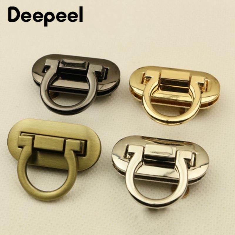 Deepeel 2pcs Metal Turn Lock Snap For Handbag Women Bag Twist Lock Clasps Closure DIY Metal Buckle Hardware Accessories KY618