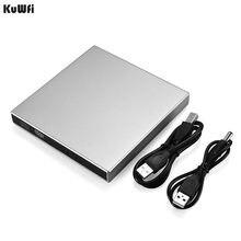Lecteur DVD externe ABS USB 2.0 prêt à l'emploi lecteur DVD externe lecteur CD-RW combiné CD +-RW DVD ROM lecteur DVD externe pour ordinateur portable