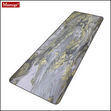 Marble gold and gray mouse pad gamer geometric line large desk